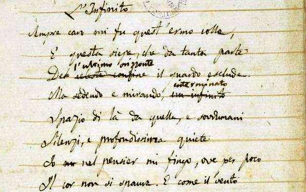 Giacomo Leopardi, Versi