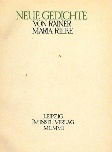 Rainer Maria Rilke, Tu, amico mio, sei solo per questo…